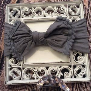 Other - Baby Girls Gray Knot Bow Headband